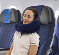 TravelMate Memory Foam Chin Supporting Travel Neck Pillow (12 x 12 x 6 inch) with Adjustable Thickness for Best Comfort, Best Support for Your Chin, Head, and Neck for Long Flights or Road Trip