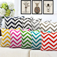 30 35 40 45 50 60 Pillow Case Custom Cotton Canvas Geometric Stripe Throw Pillowcase Cushion Cover Home Decor For Sofa Bed Capa