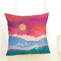 Landscape Cushion Cover Home Decor Cushion Case Houseware Throw Pillowcase Linen Square 45x45cm Cushion Cojines