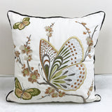 Colorful Home Decor Embroidered Cushion Cover Butterfly Geometric Floral Canvas Cotton Suqare Embroidery Pillow Cover 45x45cm