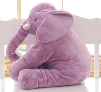 40*33cm Baby Soft Plush Elephant Sleep Pillow Calm Doll Toys Sleep Bed Lumbar Seat Cushion Kids Portable Bedroom Bedding Stuffed