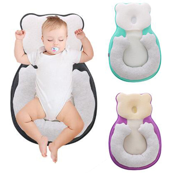 Baby Anti-roll Pillow Newborn Prevent Flat Head Infant Sleep Positioner Cushion for Toddler Baby Crib Cradle Cot Nest Bassinet