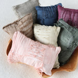 New 0-15 days Filled Pillows for Newborn Photography Posing Props Accessories Lace Fabric Floral Pillow Photo Studio