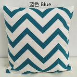 30 35 40 45 50 60 Cotton Canvas Pillowcase Geometric Wave Stripe Car Bed Throw Pillow Case Custom Cushion Cover Home Decor Gift
