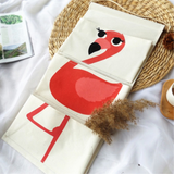 3 Pockets Cartoon Simple Cotton Linen Hanging Storage Organizer Wall Hanging Organizer for Houseware Office Storage