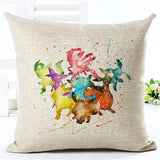 Cartoon Cushion Cover Home Decor Cushion Case Houseware Throw Pillowcase Linen Square 45x45cm Cushion Cojines