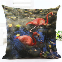 2016 Flamingo Printed Throw Pillowcase Ded Houseware Fashion Gift Cushion Cover Decorar Almofadas Cojines