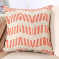 Geometric Series Printed Linen Cotton 45x45cm Square Cushion Home Car Decor Houseware Throw Pillow Cushion Cojines Almohadas