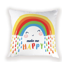 Cartoon Rainbow Unicorn Throw Pillow Cover Home Decoration Housewares Nordic Cushions Cover High Quality for Car Seat Pillowcase