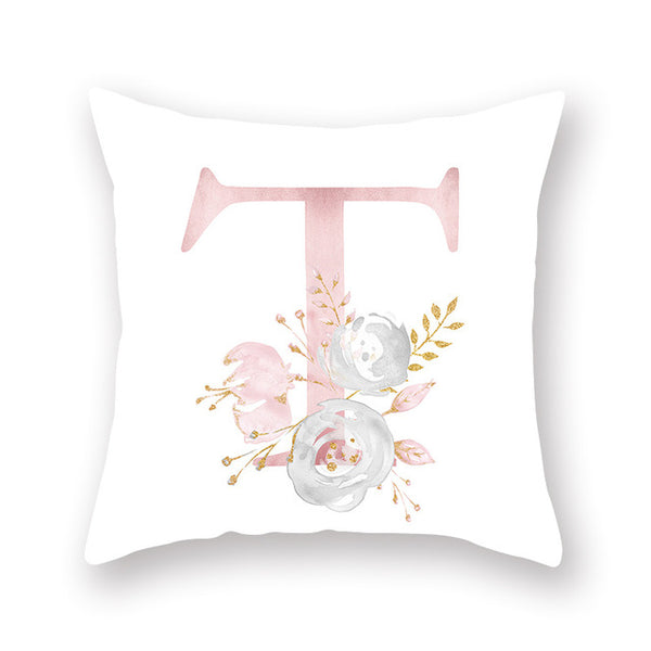 New Alphabet Pillow Suite English Letters For Houseware Flower Pillow Cover Polyester Pillow Cover