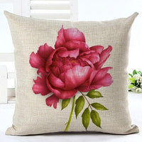 Fashion American Village Style Houseware Decor Cojines Floral Printed Sofa Pillow Throw Linen Cotton Pillow Cushion Almofadas