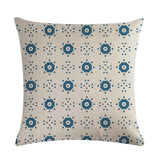 45*45cm Home Decor Print Pattern Cushion Cover Grey Blue Black Geometric Canvas Cotton Linen Suqare Printed Pillow Cover ZY432