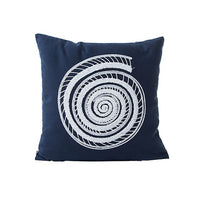 home dec dark blue embroidery cushion covers 45x45cm no inner square cotton canvas special seat sofa pillow covers X115