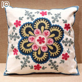 Reusable Ethnic Hand-embroidered Cover Geometric Printed pillowcases Linen Cotton Pillow Covers Sofa 45x45cm Cushion Cover#74432
