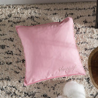 100% Cotton Nordic Simple Canvas Pillow Japanese Candy Color Letter Embroidery Bedroom Sofa Decoration Cushion Cover