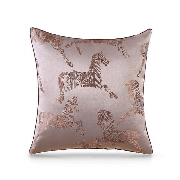 Cushion Cover Luxury European Embroidery Horse Pillow Cover Sofa Cushion Cover Canva Home Bed Decorative Case 45 X 45cm Sofa Bed