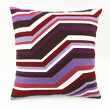 Cilected Cotton Canvas Cushion Cover Single Sided Wool Geometric Embroidery Pillowcase Living Room Bedroom Decorative Pillow