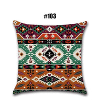45X45cm Canvas Bohemia Style Sofa Cushion Cover Pillow Case Pillowcase Polyester Throw Pillow Home Livingroom Decor