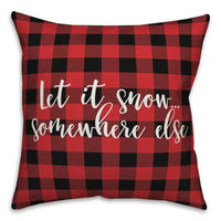 Let it Snow Somewhere Else Pillowcase Plaid Pillow Cover Christmas Decor Xmas Gifts Cushion Cover Home Decor