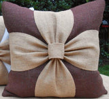 #746-2 New  Creative cute canvas soild bowknot home bedding sofa cushion pillow without filling   wholesale