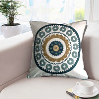 Cotton Canvas Crewel Embroidery Cushion Cover,Luxury House Decorative Hometextile Bed Sofa Chair Car Seat Pillow Case