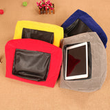 Multi-function Ipad Cushion Tablet PC Cushion Reading Bracket Print Canvas Function Pillow for ipad/iphone