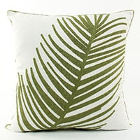 ESSIE HOME Chain Embroidery Cotton Canvas Green Leaf Leaves Plant Pattern High End Cushion Cover Pillow Case