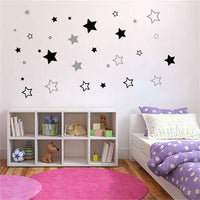 Cute Stars Wall Sticker Vinyl Home Decor For Children Kids Room Nursery Decoration Baby Bedroom Decals Housewares NR10