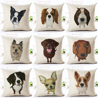 Fashion Nordic Houseware Home Decor Cojines French Buldog Printed Sofa Pillow Throw Linen Cotton Pillow Cushion Cover Almofadas