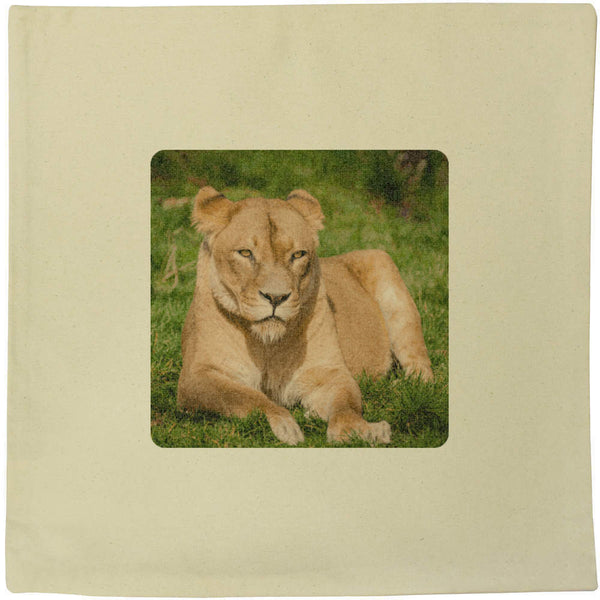 40cm x 40cm 'Lioness' Canvas Cushion Cover (CV00006577)