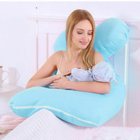 Pregnancy Pillow Body Pillow Maternity Coshion Cotton Pillowcase Sleep Support