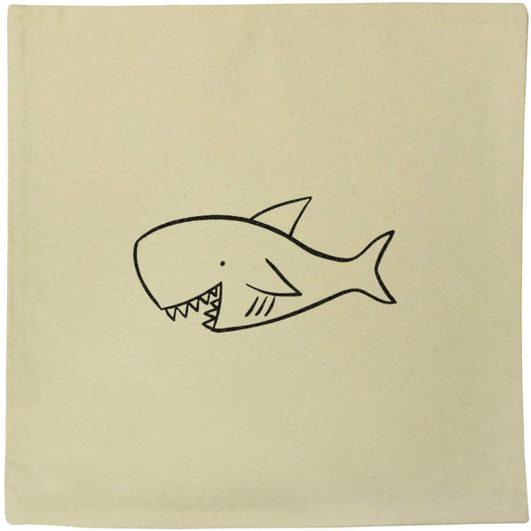 40cm x 40cm 'Shark' Canvas Cushion Cover (CV00017345)