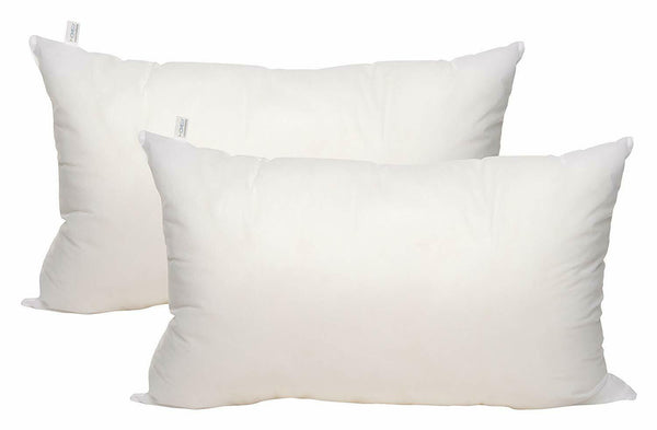 Pillow Homely Sleeping Hollow Siliconized Microfiber two Piece White color
