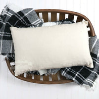 Wholesale Lot of 10 | 12x18 Cotton Canvas Pillow Cover Blank - WHITE or NATURAL