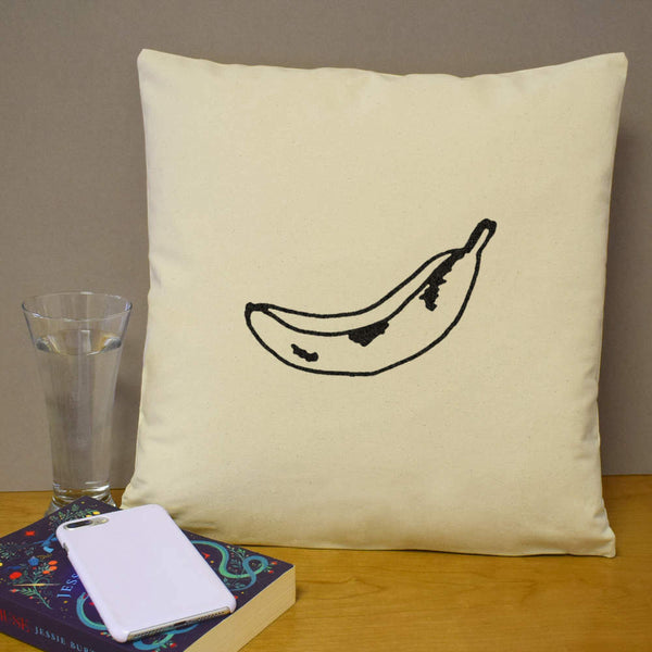 40cm x 40cm 'Banana' Canvas Cushion Cover (CV00014371)