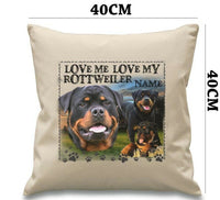 Personalised ROTTWEILER Dog Puppy Cushion Cover Love Gift Her Birthday