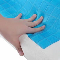 Cooling Gel Contour Memory Foam Pillow Chillow Therapy Sleeping Aid Pain Relief