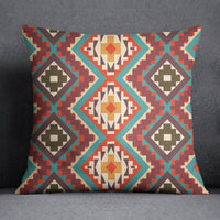 S4Sassy Home Decor Red Ikat Print Throw Square Cushion Cover Pillow Case