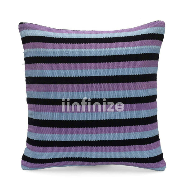 100% Cotton Pillow Handloom Cushion Indian Decorative Pillow Sham Striped Pillow