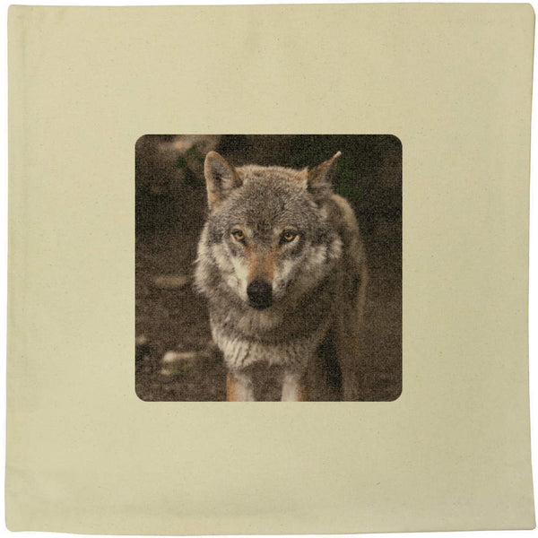 40cm x 40cm 'Wolf' Canvas Cushion Cover (CV00001977)