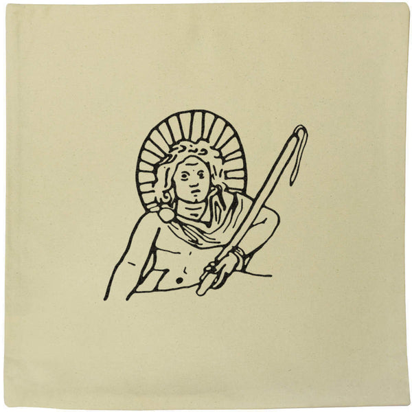 40cm x 40cm 'Apollo God' Canvas Cushion Cover (CV00008673)