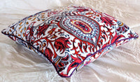 16x16 Velvet Cushion Cover Home Decor Hippie Indian Decorative Suzani Pillow Art