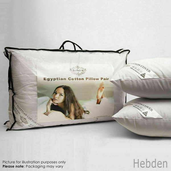 Egyptian Cotton Hollowfibre Filled Pillows Hotel Quality Comfortable Sleep Pads