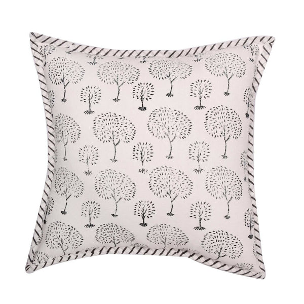 16X16 Indian Hand Block Print Cushion Cover Cotton Canvas Throw Pillow Case Boho