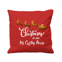Personalized Family Name Cool Christmas Sofa Cushion Cover Tote Bag Canvas Gift