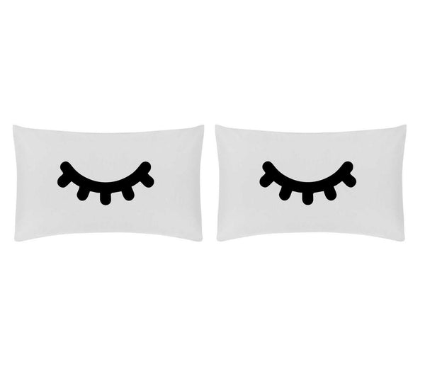 Sleeping eyes - Pillow Case Set (choice of colour print)