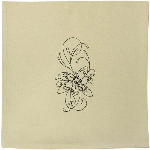 40cm x 40cm 'Lily' Canvas Cushion Cover (CV00003489)