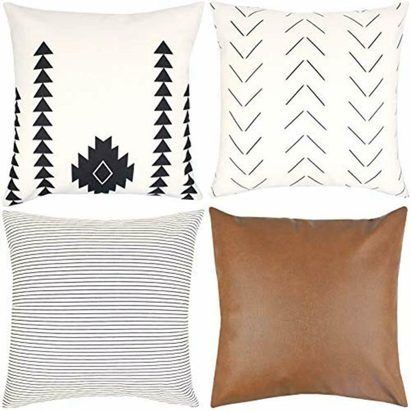 Decorative Throw Pillow Covers ONLY For Couch, Sofa, Bed Set 4 18x18 20x20 22x22