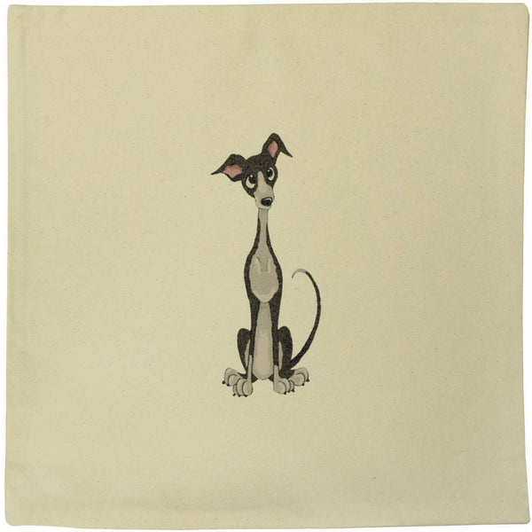 40cm x 40cm 'Italian Greyhound' Canvas Cushion Cover (CV00012765)