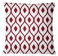 Designer Geometric Printed Home Decorative Cushion Cover Maroon Pillow Case